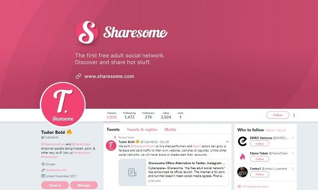 nsfw social network, sharesome review